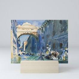 "John Singer Sargent ""The Bridge of Sighs, Venice"" Mini Art Print"