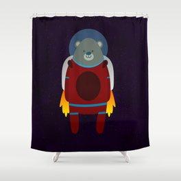 Major Ursa from Ursa Minor: Bear in Space Shower Curtain