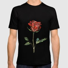 The Little Prince's Rose MEDIUM Black Mens Fitted Tee