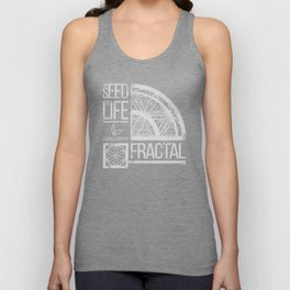 Sacred Geometry-The Seed of life-FRACTAL Unisex Tank Top