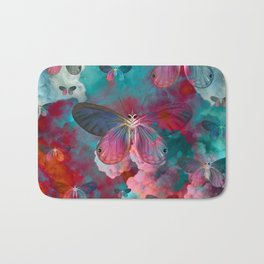 """Spring Butterfly love"" Bath Mat"
