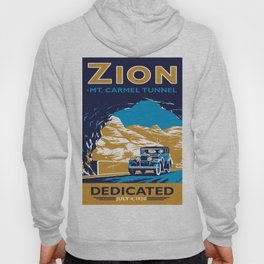 Vintage poster - Zion National Park Hoody