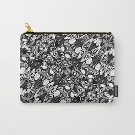 Black And White Trendy Ornate Mandala Pattern Carry-All Pouch