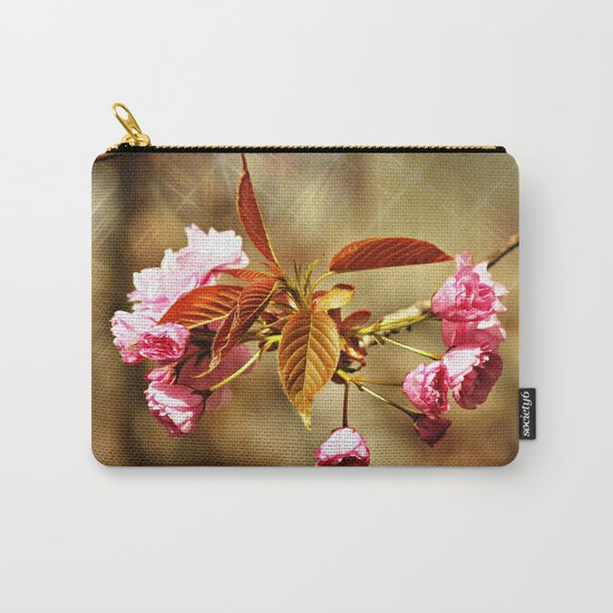 Vintage Cherry Blossoms Carry-All Pouch