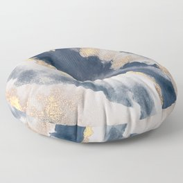 All that Shimmers – Gold + Navy Geode Floor Pillow