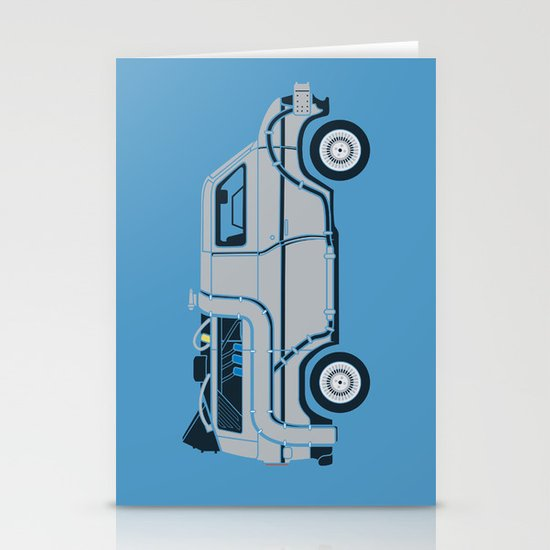 Back to The Future DeloreVan Stationery Cards