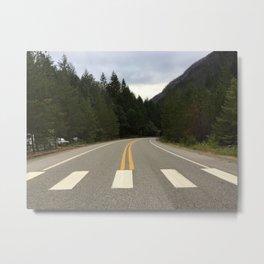 crossing here Metal Print