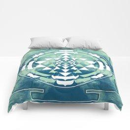 Sri Yantra Sky Mandala Comforters