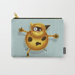 Flying Fat Cat | Grey Blue Carry-All Pouch