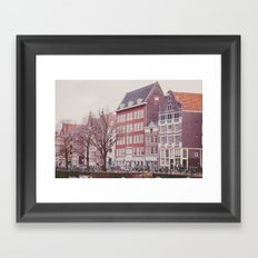 Amsterdam love Framed Art Print