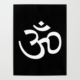 Ohm Black & White Poster