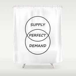 Supply and Demand Shower Curtain