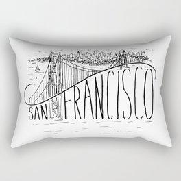 San Francisco Golden Gate Swoop Rectangular Pillow