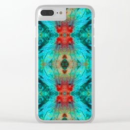 Colorful Patterns - Life Circles - By Sharon Cummings Clear iPhone Case
