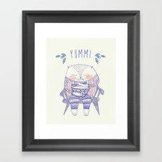 yummi cat Framed Art Print