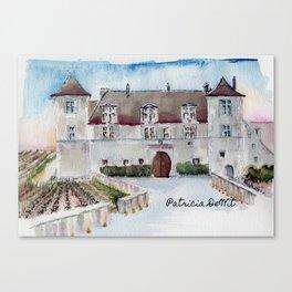 Burgundy Castle Canvas Print
