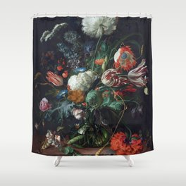 Botanical still life Shower Curtain