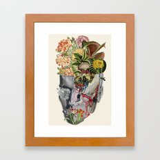 Mindfulness anatomical collage art by bedelgeuse Framed Art Print