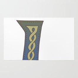 Celtic Knotwork Alphabet - Letter I Rug