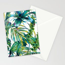 nature leaves exotic watercolor I Stationery Cards