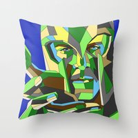 magneto Throw Pillows featuring Magneto by Liam Brazier