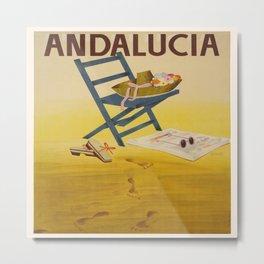Vintage poster - Andalucia, Spain Metal Print