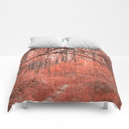 Forest Arch Trail - Salmon Pink Comforters