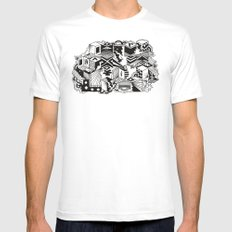 Cube-ular White Mens Fitted Tee MEDIUM