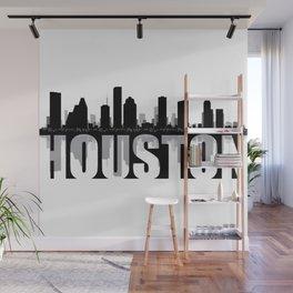 Houston Silhouette Skyline Wall Mural