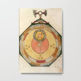 Peter Apian - Astronomicum Caesareum 1540 - Plate 7 Orbit of Mars Metal Print