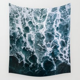 Minimalistic Veins in a Wave  - Seascape Photography Wall Tapestry