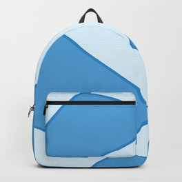 Geometric abstract - blue. Backpack