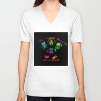 queen V-neck T-shirts featuring Queen by SwanniePhotoArt