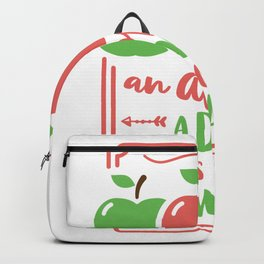 an apple a day keeps doctor away Backpack