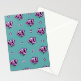 Blue Tulip Pattern Stationery Cards