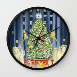 Christmas in New York Wall Clock