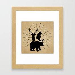 Outdoorsman Trio Silhouette Framed Art Print