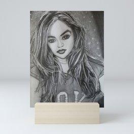 Selfie portrait Mini Art Print