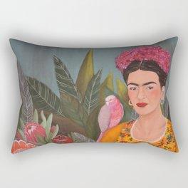 Frida a la casa azul Rectangular Pillow