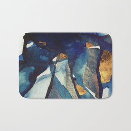 Cobalt Abstract Bath Mat
