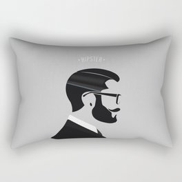 Hipster Men Fashion 1 Rectangular Pillow