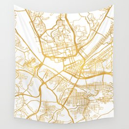 PITTSBURGH PENNSYLVANIA CITY STREET MAP ART Wall Tapestry