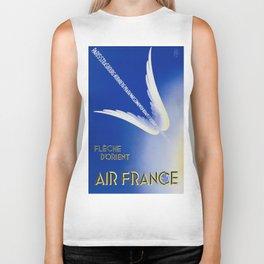 Flèche D'Orient - Vintage Air France Travel Poster Biker Tank