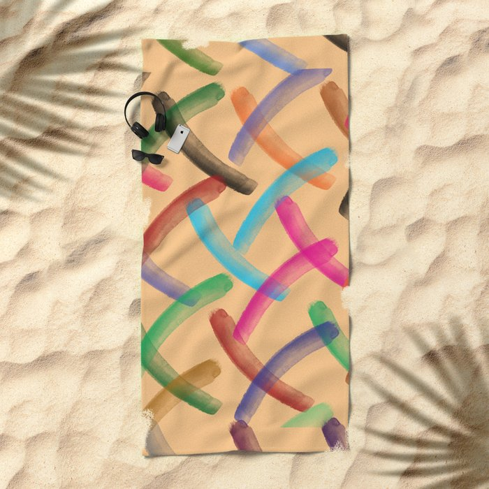 Colourful patterns Beach Towel
