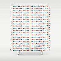 cars Shower Curtains featuring Cars by Yasmina Baggili