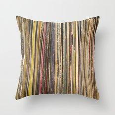 Records Throw Pillow