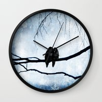 lovers Wall Clocks featuring Lovers by SensualPatterns