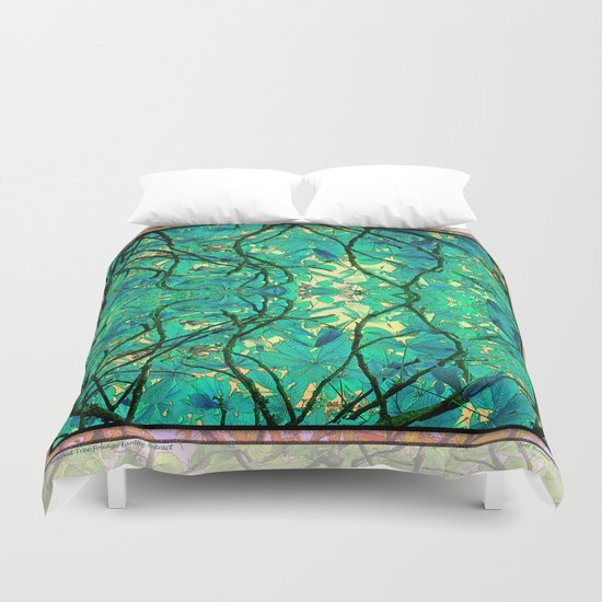 CHESTNUT FOLIAGE FANTASY ABSTRACT Duvet Cover