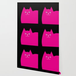 Pink Cat Wallpaper