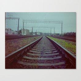 Railroad. Russia. Canvas Print